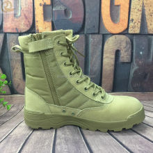 Factory cheap leather tactical desert boots swat army military combat boots