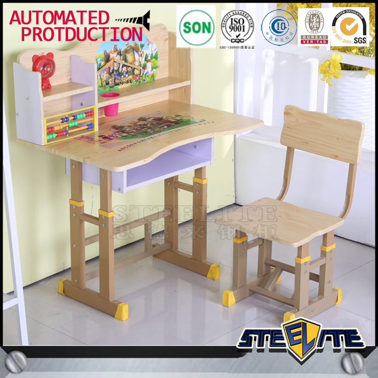 Used school furniture for sale cheap kids art single school desk and chair for sale