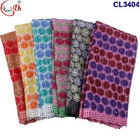 CL3404 Fancy design guangzhou african lace embroidery fabric for african women net french lace