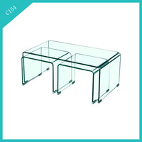 hot sale bent glass coffee table center table end table