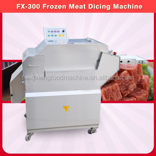 FX-300 High efficiency frozen meat cutting machine/electric meat cutter/poultry cube dicer