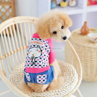 China-made modern design soft cotton jean pants coat winter dog clothes