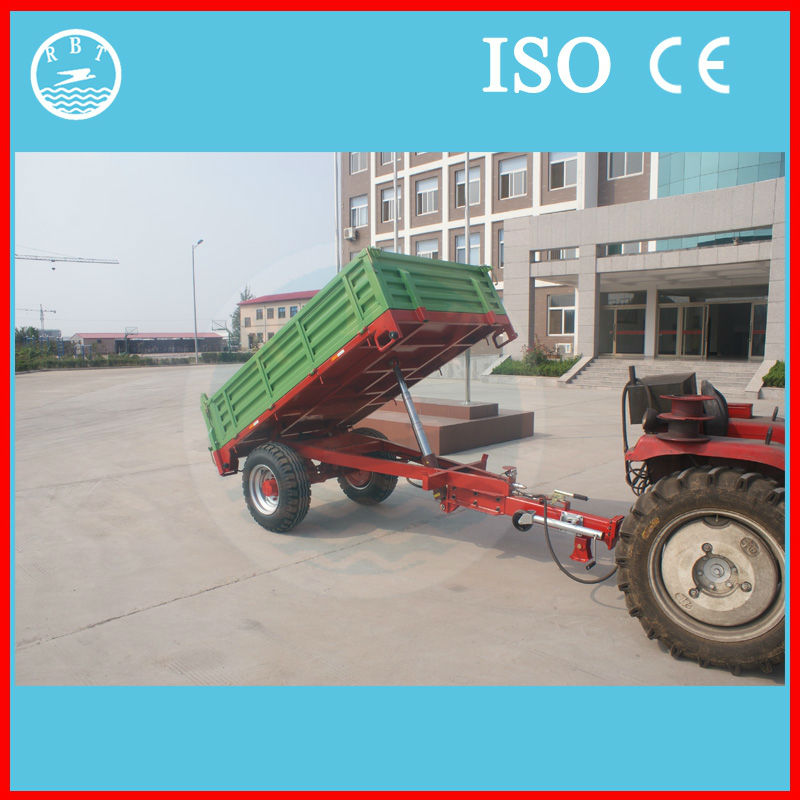 Agriculture machinery Dump two wheel tractor with trailer
