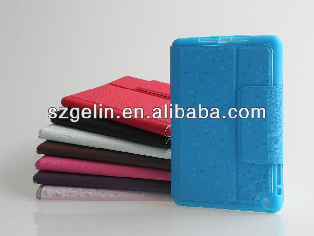 electric tension flip leather case cover for ipad mini