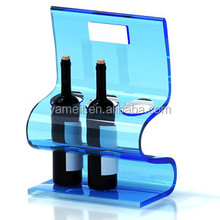 Acrylic wine holder rack OEM ODM cat shaped wine bottle