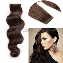 Wholesale Factory Price Indian Virgin Double Drawn Tape Hair Extensions Body Wave