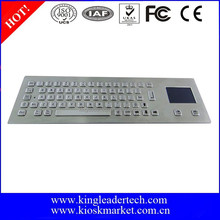 Custom layout metal computer keyboard for industrial application