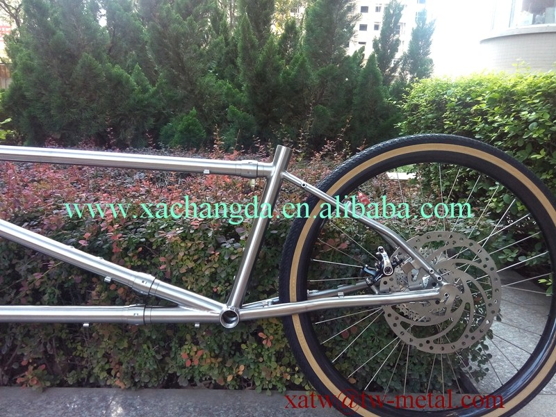 2016 new design!! Ti mountain tandem bike frame titanium S&S coupler tandem bike frame Ti S&S mtb tandem bike frame customize