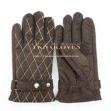 Hot cheap sale suede leather driving gloves for motorcycle driver