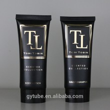 oval tube 60ml black color cosmetic packaging for makeup sets
