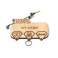 Laser cut wooden key chain holder for home decor