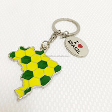 Brasil Country Map designs souvenir metal keychains WK 10