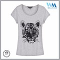 Supplier designer sequin breathable 100% Cotton grey t shirt