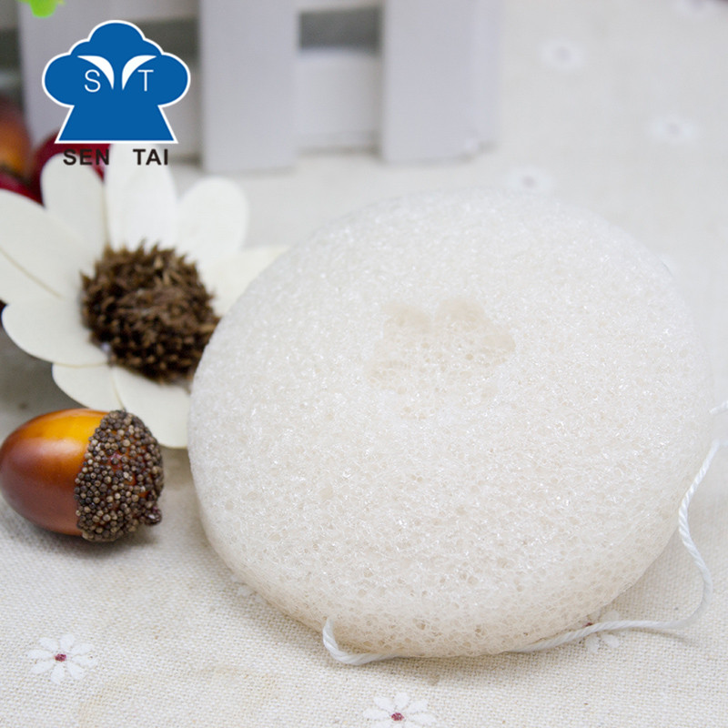 Face cleaning 100% Pure Konjac Sponge,natural cleaning konjak sponge