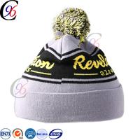 Chengxing new style pom pom beanie knitting pattern custom winter sports classic crochet knitted pattern soft bobble hat
