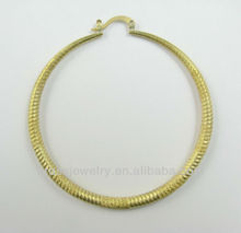 Fashion New Design Hot Selling High Quality Extra Large Round Brass Hoop Earrings