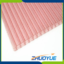 China supplier solar hollow twin-wall materials polycarbonate sheet