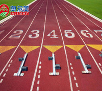 prefabricated synthetic rubber running track