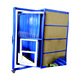 Flat push slide store sample window door display rack