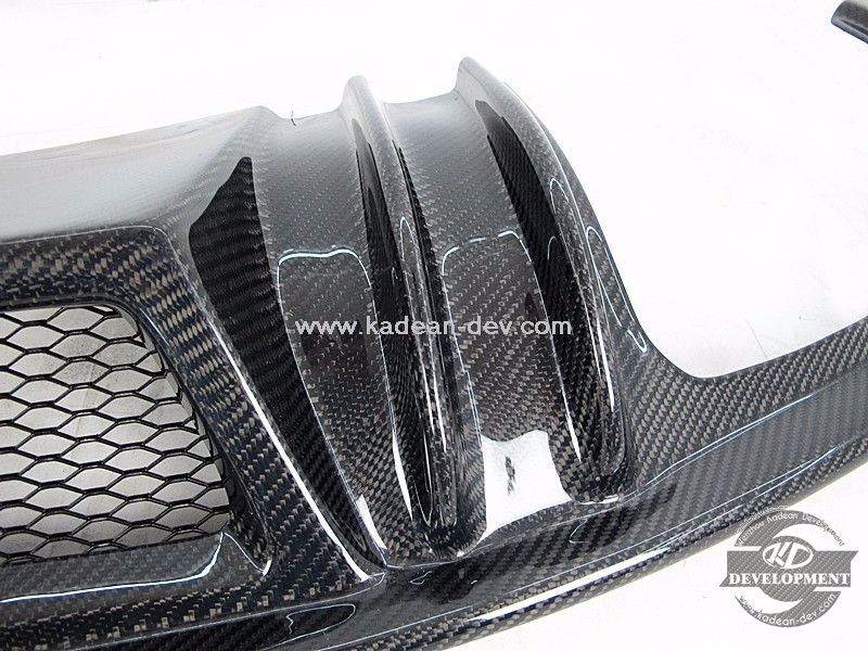 FOR 2007-2013 A5 S5 4 DOOR SPORTBACK DTM STYLE REAR BUMPER DIFFUSER CARBON FIBER