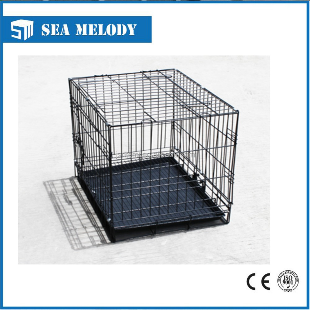 Folding iron wire pet dog cages for sale