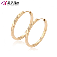 Xuping fashion jewelry 18K gold plated big hoop earring