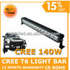HOT!! 40w/80w/140w/180w/220w Off Road LED Light Bar Cree T6 LED Work Lights Offroad LED Truck Light Auto Tuning