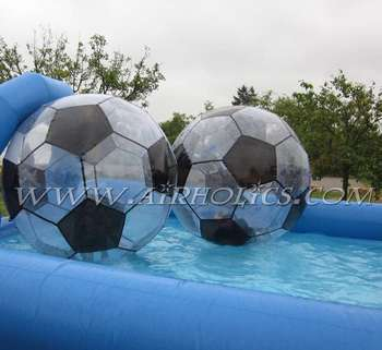 High quality cheap TPU/PVC water walking ball inflatable running water bubble roller ball for kids/adult W1013