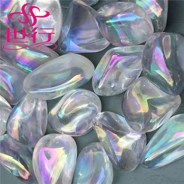 wholesale rainbow natural aqua angel aura quartz <strong>crystals</strong> tumbled stone