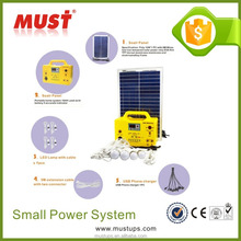 30w/12v home solar system for home lighting with solar panel/ battery/ charger