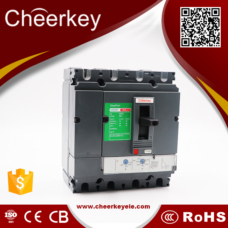 china suppliers CNSV 250F 250a switch circuit breaker mccb with shunt trip