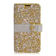 Full Body Glitter Diamond Mobile Phone Case,Flip Leather Wallet Back Cover For LG G3