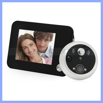 Multifunctional Digital Door Peephole Viewer with Doorbell 3.5inch Screen Night Vision Auto snapping Function Home anti Theft