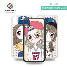 Blank Soft Phone Case For iphone X, Sublimation TPU Case For iphone X, Blank 2d Case Sublimation