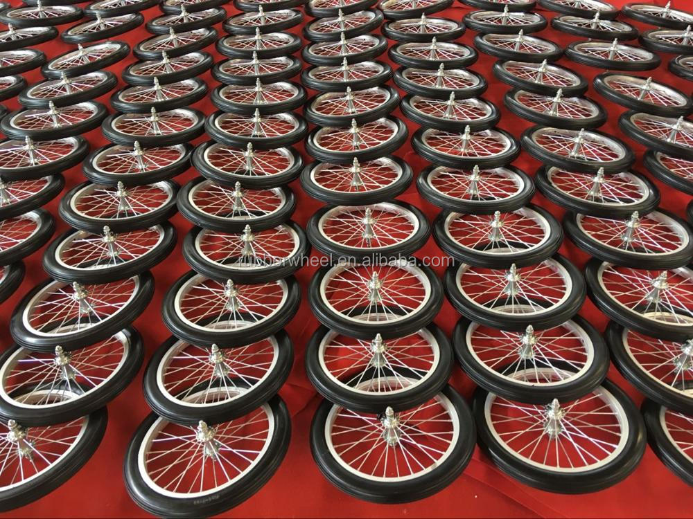 16 inch aluminum bicycle puncture proof tyres wheel with spoke