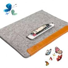 Recyclable zipper closure tablet felt material custom hard laptop case hard shell laptop case