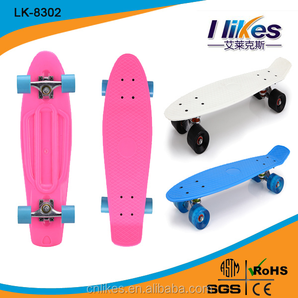 Mini Longboard Skateboard 22-inch mini cruiser plastic fish skateboard complete