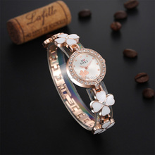 Fashion ladies watch bracelet crystal stone with flower pattern