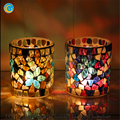mosaic glass candle container handmade