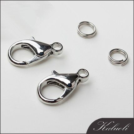 Silver plated lobster safety clasp for jewelry bulk sale
