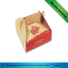 Take away custom brown kraft paper custom pizza box with handle