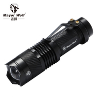 Zoom focus mini led torch light rechargeable tactical flashlight