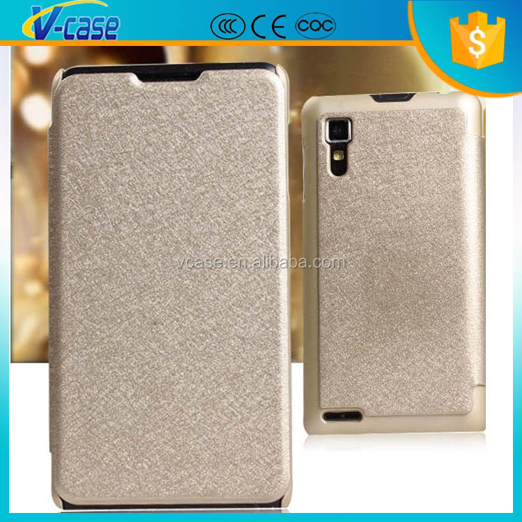 VCASE Hot selling luxury business type flip cell phone cover case for lenovo a706