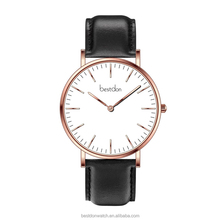 Top quality brand new design genuine leather girls watch