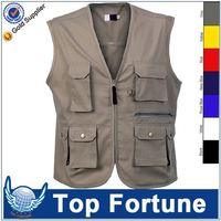 Customized Wholesale casual black denim vests
