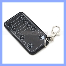 Keychain Custom Code 10 Key Bubble Button Universal IR Remote Control Car Audio Remote Switch