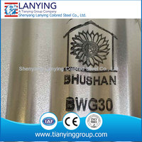 China colored coated and galvanized corrugated sheet metal design