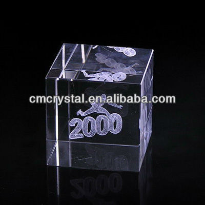 2016 sport photo laser engraver crystal cubes