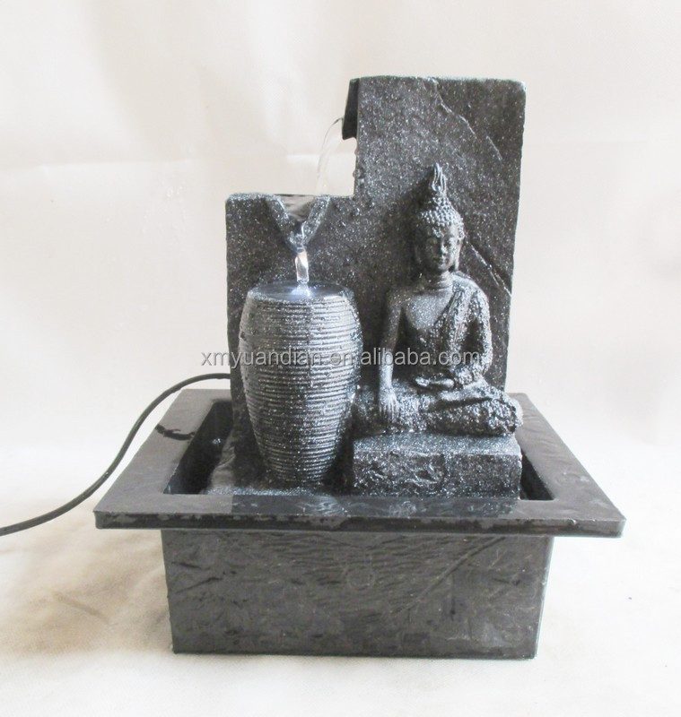 Indoor buddha table fountain with water vat design
