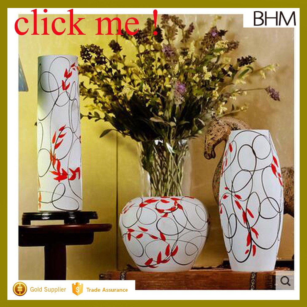 2016 new arrival Japanese style antique decorative ceramic table vase sets of 3
